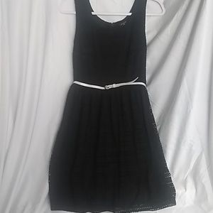 George Black Dress With Belt